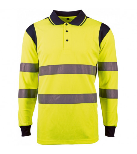 polo-manches-longues-jaune-fluo-singer-safety