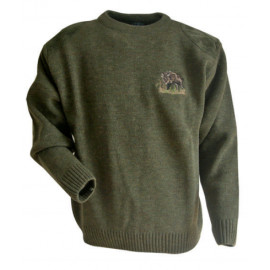 Pull avec maille plate LMA CHASSE
